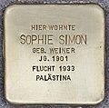 Stolperstein für Sophie Simon (Heidelberg).jpg