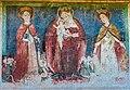 Straßburg Lieding Pfarrkirche Chorschräge außen got. Wandmalerei 27032017 7174.jpg
