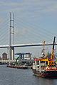 Stralsund, Strelasundquerung, Ziegelgrabenbrücke und Rügenbrücke, 10 (2012-01-26) by Klugschnacker in Wikipedia.jpg