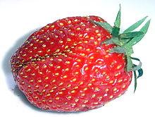 Крупный план здоровой, красной клубника