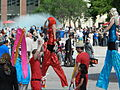 Street performers at Winston Churchill Square in Edmonton 02.JPG