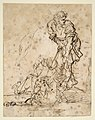 Studies for a Figure Lifted from a Grave or Pit by Cords. V e r s o- Further Study of the Same Figure MET DP811506.jpg