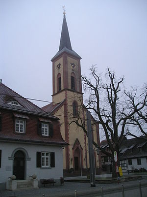 Stutensee - Prot. Church in Stutensee-Blankenloch