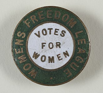Women's Freedom League - Votes For Women badge