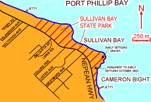 Sullivan Bay, Victoria - Map of Sullivan Bay, Victoria