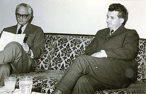 Cyrus Leo Sulzberger II - Sulzberger interviews Romanian dictator Nicolae Ceauşescu in 1968