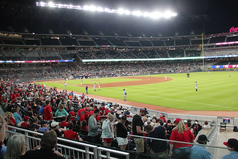 SunTrust Park view from right field, May 2017