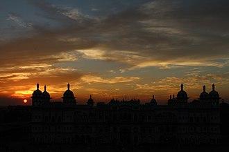 Janaki Mandir - Image: Sunset view of the Janaki Mandir (Janakpur, Nepal) captured on Nov. 02, 2012