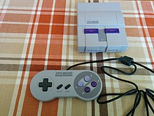 Super NES Classic Edition with controller