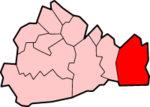 Tandridge shown within Surrey