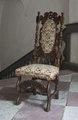 Svarvad stol med korsstygnsbroderi, 1680-1725 - Skoklosters slott - 103808.tif
