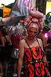 A reveler in Sydney on Mardi Gras.