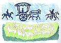 Szikla- és csontfaragáson ősi kocsizó jelenetek.jpg