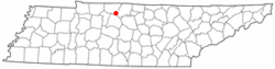 Location of Millersville, Tennessee