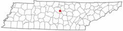 Location of Watertown, Tennessee
