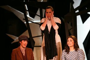 """Brown Opera Productions - The Governess with Miles and Flora. From the Spring 2010 show """"The Turn of the Screw"""""""