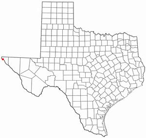 Ysleta, El Paso, Texas - Image: TX Map doton El Paso