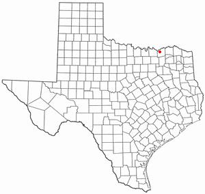 Ravenna, Texas - Image: TX Map doton Ravenna