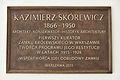 Tablica Kazimierz Skórewicz Brama Senatorska Zamek Królewski w Warszawie.JPG