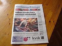 Tabloidformat Norrköpings Aviser 07 06 26.JPG