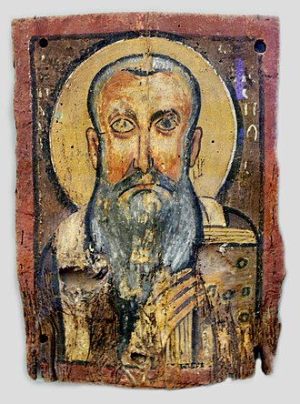 Icon of Christ and Abbot Mena - Our father Abraham, the Bishop, Bode Museum, Berlin