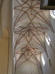 15th Century Star Rib Vaults In St Olafs Church Tallinn