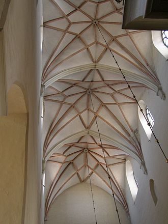 "Rib vault - 15th-century ""star"" rib vaults in St. Olaf's Church, Tallinn"