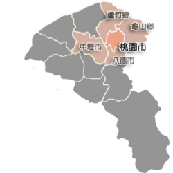 Location of Taoyuan