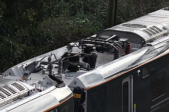 British Rail Class 800 - Class 800 pantograph in lowered position