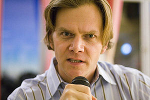 Taylor Mali at the international school in Sto...