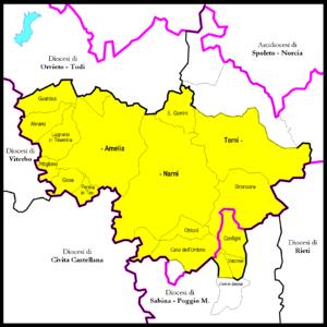Roman Catholic Diocese of Terni-Narni-Amelia - Image: Terni Narni Amelia diocesi