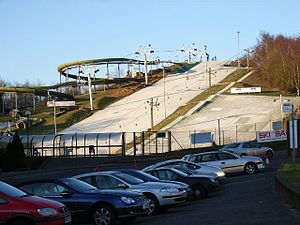 The dry ski slope, Bracknell Part of the John ...