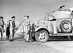 The Air Officer Commander-in-Chief Middle East, Air Chief Marshal Sir Arthur Longmore, inspects a section of No. 2 Armoured Car Company RAF, North Africa, November 1940. CM150.jpg