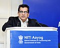 The CEO, NITI Aayog, Shri Amitabh Kant addressing at the National Workshop on Municipal Finance & Effective and Accelerated implementation of Smart Cities, in New Delhi on January 11, 2018.jpg