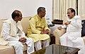 The Chief Minister of Uttarakhand, Shri Trivendra Singh Rawat meeting the Union Minister for Urban Development, Housing & Urban Poverty Alleviation and Information & Broadcasting, Shri M. Venkaiah Naidu, in New Delhi.jpg