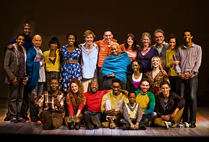 Danny Boyle - Boyle with the cast of The Children's Monologues in 2010