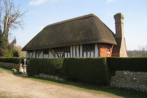 Alfriston Clergy House - The house in spring