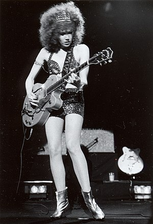The Cramps - Poison Ivy performing with the Cramps, 1991, Tokyo