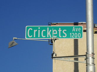 The Crickets - Avenue named for the Crickets in downtown Lubbock, Texas