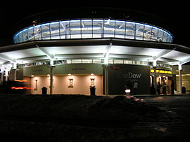 The Dow Event Center at night.jpg
