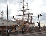 The Dutch barque Europa in a shipyard in Cape Town in May 2012.jpg