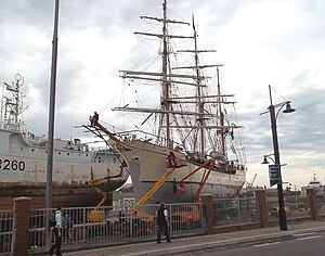 Europa (ship) - Image: The Dutch barque Europa in a shipyard in Cape Town in May 2012