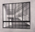 The Galmanini Stairs. View of stairwell designed in 1955 by Italian designer Gualtiero Galmanini, Centro del Mobile, Lissone, Italy.png