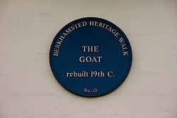 Photo of The Goat, Berkhamsted blue plaque