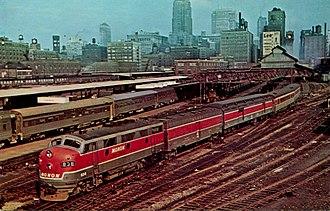 Monon Railroad - The Monon's Hoosier departing Chicago.