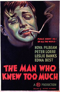 <i>The Man Who Knew Too Much</i> (1934 film) 1934 film by Alfred Hitchcock