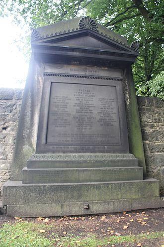 Walter McLaren - The Mclaren monument, St Cuthberts, Edinburgh