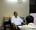 The Minister of State for Information and Broadcasting, Shri Choudhury Mohan Jatua addressing the media at South 24-Parganas Zilla Parishad Office, Alipore, in West Bengal on September 06, 2010.jpg