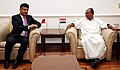 The Minister of Transportation, Bahrain, Mr. Kamal Bin Ahmed calling on the Defence Minister, Shri A. K. Antony, in New Delhi on August 05, 2013.jpg