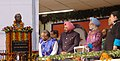 The Prime Minister, Dr. Manmohan Singh unveiling the statue of former Prime Minister, Bharat Ratna Smt. Indira Gandhi at a public meeting, in Itanagar, Arunachal Pradesh on January 31, 2008.jpg